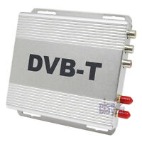 In Car DVB-T Freeview Digital TV Tuner Receiver Box Two Antenna H.264 MPEG4 USB
