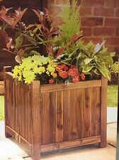 Wood Planter Trough Wooden Garden Folding Square Plant Pot Box