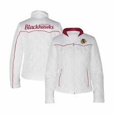 G-III Women's NHL Chicago Blackhawks Quilted Jacket - White (L)