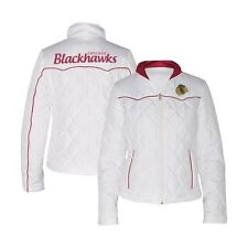 G-III Women's NHL Chicago Blackhawks Quilted Jacket - White (M)