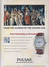 Pulsar Chronograph Watch 1993 Magazine Advert #2524