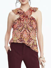 New Banana Republic New $78.00 Women Paisley Cross-Neck Top Size PXXS