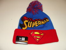 New Era Cap Hat Toque Beanie Superhero Pom Knit Winter Fresh Superman DC Comic