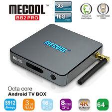 3G 16G MECOOL BB2 PRO Android 6.0 TV Box Octa Core Amlogic S912 1000M LAN KODI