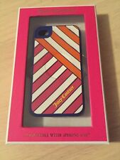 Juicy Couture Diagonal Multi Stripe Iphone 4/4S Rubber Case New! $35