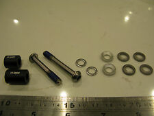 Avid GENUINE Titanium Caliper Mounting Bolts CPS 160mm rear PM T25 cup & cone