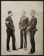 c.1890's PHOTO  - BRITISH ARMY UNIFORM THREE SOLDIERS FROM THE MOUNTED RIFLES