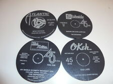 4 Slate Coasters,Northern Soul,Motown, Mod,Record Labels,Birthday Gift 50th 60th