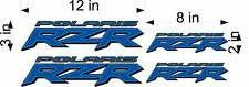 POLARIS RZR 4 pack BLUE UTV vinyl sticker graphic, tailgate, window decal