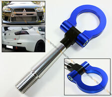 08-14 LANCER EVO X 10 MR BLUE FRONT/REAR FOLDING SCREW ON STYLE RACING TOW HOOK