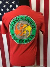 True Vintage Quicksilver Australia T-Shirt men's LARGE 90s made in usa Surfer