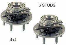 1999-2006 GMC Sierra 1500 (4WD 4X4) FRONT Wheel Hub Bearing Assembly (PAIR)