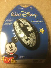PC / MAC Disney MICKEY MOUSE B&W Optical Mouse  NEW