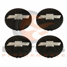 2014-2017 Chevrolet Impala Genuine GM Gloss Black Bowtie Center Cap Set Of 4