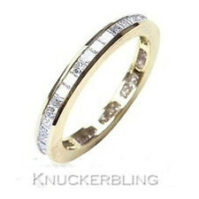 1.00ct Princess Cut Diamond F VS1 VG 18ct Gold Full Eternity / Wedding Ring