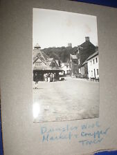 2 Old amateur photographs Dunster c1930s Ref 5abc8