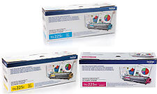 GENUINE OEM BROTHER TN225C TN225Y TN225M TONER SET (3-PACK) MFC-9340CDW NEW