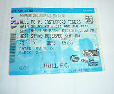 HULL F C v CASTLEFORD TIGERS 14th MARCH 2004 TICKET