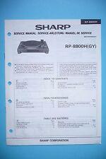 Service-Manual-Anleitung für Sharp RP-8800H  ,ORIGINAL