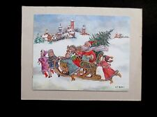 "Vintage AAG Sample Xmas Greeting Card by W. T. Mars ""A Storied Santa"""