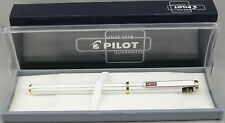 Pilot Dipper White Stripe w/Gold Trim Fountain Pen - Medium Nib - New In Box
