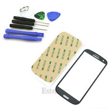 For Samsung Galaxy S3 i9300 Replacement Screen Glass Lens Black + Tool Kit