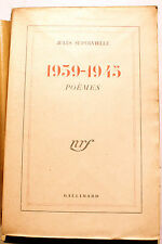 SUPERVIELLE/POEMES 1939-1945/NRF/1946/EO
