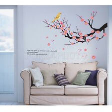Plum Blossom Bird Tree Branches Removable Wall Sticker Bedroom Art Decal Decor