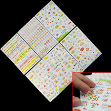 Korean Style Cute 6 Sheets Diary Scrapbook Book Album Decoration Sticker Gift