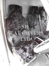 TO FIT A FIAT SCUDO VAN,2008, SEAT COVERS, BLACK FAUX FUR 1S+1D