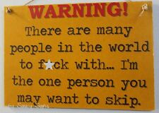Warning F*ck Skip Naughty Sign - Man Cave Shed Sign Bar Pub Door Shabby Wooden