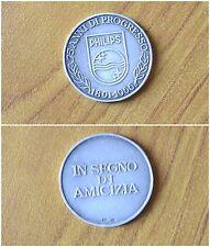 MEDAGLIA 75 ANNI DI PROGRESSO PHILIPS 1891 1966 ARGENTO 800 PESO 14,50 gr