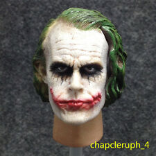 Custom 1/6 Scale Joker Heath Ledger Head The Dark Knight Sculpt fit Hot Toys#US