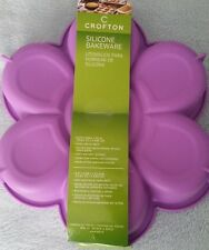 "NEW PURPLE CROFTON 9.3"" x 9.8'' SILICONE BAKEWARE FLORAL FLOWER"