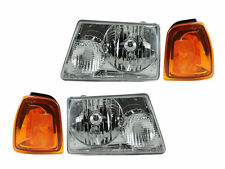 Headlights Headlamps Left & Right Pair Set for 01-05 Ford Ranger Pickup Truck