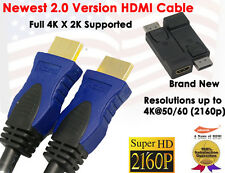 Newest 2.0v Super-Speed 4K X 2K HDMI 3FT+ DisplayPort (DP) to HDMI M/F Adapter