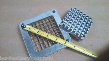 """French Fry Cutter 3/8"""" Blade & Pusher Set Stainless Steel Blade & Pusher Only"""