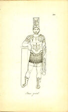 Roman General Full Dress Uniform Greek Roman Engraving