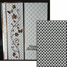 "Crafts Too Embossing Folder ""LATTICE BACKGROUND"" CTFD3090 for Cards & Scrapbook"