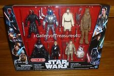 "Star Wars Saga 7 Pack 8 Figures 3.75"" Jango Fett Luke Darth Maul Vader Rey BB-8"