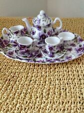 Vintage Shelly Ann Collection Fine Bone China Miniature Tea Set