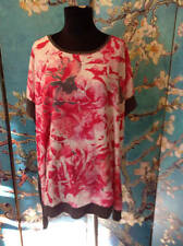 APT 9 PLUS 2X NEW PINK/GRAY MIX FLORAL FRONT RAYON BLEND DOLMAN SLEEVE TUNIC TOP