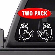 """Dick Butt Figure 2 PACK 5"""" x 6.2"""" vinyl decal sticker funny meme reddit dickbutt"""