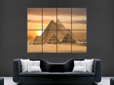 PYRAMIDS EGYPT  ART  HUGE WALL GIANT POSTER