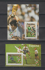 Guyana Stamps 1990 World Cup Soccer Championships 4 Souvenir Sheets MNH