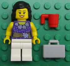 LEGO SONJA OLSON CUSTOM MINIFIG LOT female girl TEACHER BUSINESS purple blouse