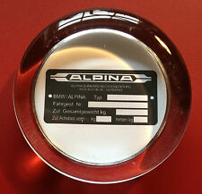 BMW `ALPINA` CHASSIS PLATE: 70mm GLASS PAPERWEIGHT