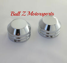 99-07 Hayabusa 01-02 GSXR 1000 ZX12 98-03 R1 636 Custom Chrome SMOOTH Fork Caps!
