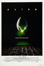 "ALIEN Silk Fabric Movie Poster New 24""x36"" Sci Fi Horror Predator"