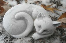 latex only MOLD small lying curled cat mold plaster mold concrete mold